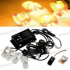 4x HID Xenon Bulbs Kit Strobe Amber Headlight DRL Bumper Fog Light Flash Control