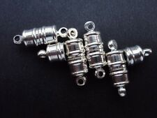 5 Magnetic Clasps Silver Plated 10mm x 6mm.