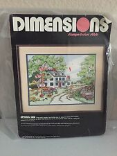 Dimensions Stamped Cross Stitch Spring Inn #3097 Vintage 1989 Kit