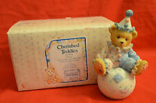 CHERISHED TEDDIES WALLY YOU'RE THE TOPS WITH ME CLOWN ON BALL FIGURINE
