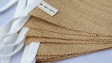 HESSIAN Fabric Bunting SOLD BY THE METER  /  Wedding Tea Party Vintage Christmas
