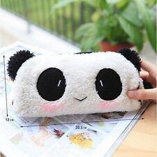 Hot Panda Soft Plush Pencil Case Pen Pocket Cosmetic Makeup Zipper Bag Pouch BS