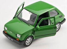 Spedizione LAMPO FIAT 126 P VERDE/GREEN Welly Modello Auto 1:27 NUOVO & OVP