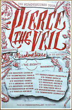 PIERCE THE VEIL Misadventures 2016 Ltd Ed RARE New Tour Poster +Free Punk Poster
