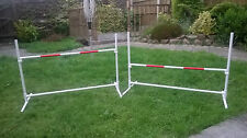 SALE x SET OF 2 x Dog Agility Jumps / Hurdle Set adjustable height free standing