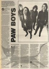 17/6/89Pgn13 Article & Picture 'paw Boys' Pussy Galore - Greatest Soul Band Of T