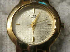 LADIES WOMEN'S CITIZEN GOLD PLATED QUARTZ WRIST WATCH
