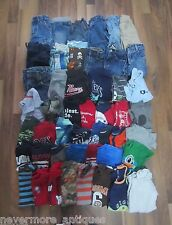 48 Piece Lot Baby Boys 12  Months Clothes Spring Summer Jeans Shorts Shirts Etc