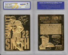1995 EMMITT SMITH COWBOYS 23K GOLD CARD - GEM-MINT 10
