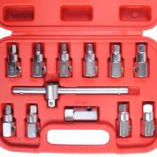 12 Piezas De Drenaje De Aceite enchufe del cárter herramienta 3/8 Llave Socket clave conjunto Filtro De Caja De Cambios