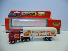 MATCHBOX Convoy-Kenworth-Burger King-Get your Burger 's Worth-CON SCATOLA ORIGINALE