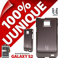 New Uunique Hard Shell Case For Samsung Galaxy i9100 S2 SII Cover Aluminium Grey