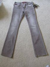 New Women's Baby Phat Brown Jeans Size 0 Stretch Bambokiss Boot Cut Retail $69