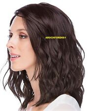BOB WAVY LAYERED DARK BROWN FULL LACE FRONT WIG HEAT OK HAIR PIECE #4 NWT