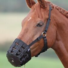 ENGLISH OR WESTERN GRAZING OR SAFETY MUZZLE PONY OR WEANLING SIZE HORSE BLACK