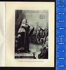 Earl of Chatham in the House of Lords  - 1895 Photogravure Print