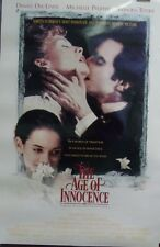 The Age of Innocence Original Double Sided Movie Poster Daniel Day Lewis 1993