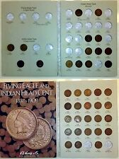 38 Coin Indian Head Cent Collection ~ 1859 - 1909 In Harris Album ~ Starter Set
