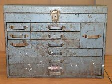 Huge 10 drawer mechanics machinists tool box steam punk chest vintage garage