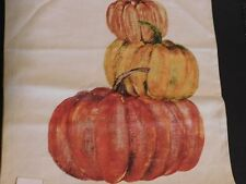 NEW POTTERY BARN Market Stacked Pumpkin Pillow Cover Fall Thanksgiving deco Sham