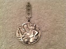 St Christopher~Baby Jesus~Christ Child~Religious~Pendant~Charm~Medal~FreeUSShip