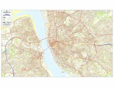 Postcode City Sector Maps 7 Liverpool - Laminated Wall Map For Business