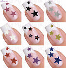 Glitter Star Adhesive Nail Stickers Art Decals Tattoos
