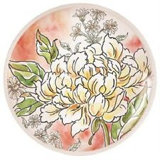 Maxwell & Williams Savannah Yellow Peony Accent Plate-Blooming Budding