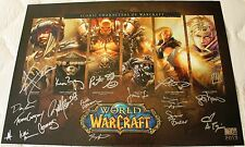 Blizzcon 2013 WoW World of Warcraft Mini Poster signed by Voice Actors