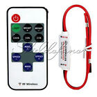 12V RF Wireless Remote Switch Controller Dimmer for Mini LED Strip Light New