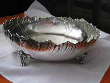 "10"" Art Nouveau FRENCH 950 SILVER FOOTED BOWL, Minerva 1, Mercury & Maker Marks"