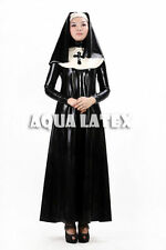 Fetish Sexy Cosplay Rubber Latex Dress Nun Sister Dress