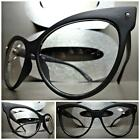 CLASSIC VINTAGE CAT EYE Style Clear Lens EYE GLASSES Matte Black Fashion Frame