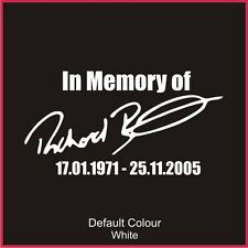 Richard Burns Tribute Decal, Subaru, Clio, Vinyl, Sticker, Graphics,Car, N2105