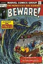BEWARE #7 VG/F, Torres, reprints, Horror, Marvel Comics 1974