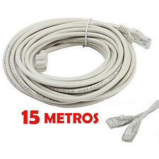 CABLE DE RED 15 METROS RJ45 CAT 5E UTP ETHERNET PC ROUTER INTERNET