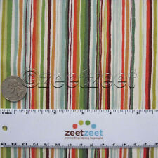 FOREST FRIENDS Watercolor STRIPE 100% Cotton Quilt Fabric by the YARD Makower UK