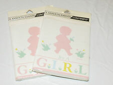 "Contempo Greeting  2 packs of 8 Birth Announcements ""It's a Girl""  baby cards#"