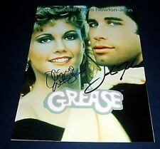 GREASE CAST x2 PP SIGNED POSTER 12X8 JOHN TRAVOLTA