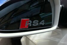 AUDI RS4 Logo Premium Wing Mirror Decals Stickers