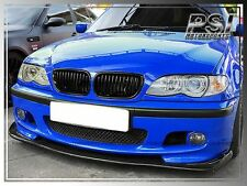 BMW 3-Series 99-06 E46 M-Tech Only HM Style Carbon Fiber Front Bumper Lip