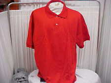 Lot of Three New Men's Fashion Seal Red Short Sleeve 50/50 Polo Shirt Size-3XL