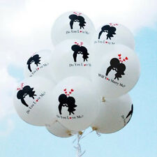 25pcs Kiss White Balloons For Wedding Engagement Marriage Proposal