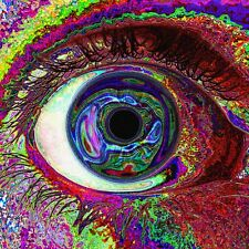 Psychedelic Trippy Art Fabric Art Cloth Poster 13inch x 13inch Decor 58
