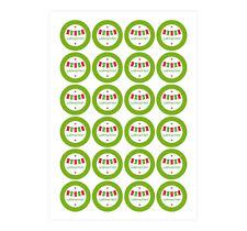 Geschenk-Aufkleber 'Frohe Weihnachten' Girlande grün rot Sticker