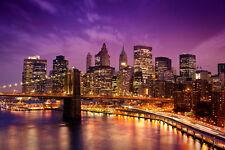 Kleistertapete New York Nacht Nr.178 Größe: 400 x 280 cm Tapete USA Fototapete