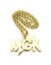 "NEW 'MGK' PENDANT &4mm/18"" LINK CHAIN FASHION NECKLACE FOR WOMEN - RC948"