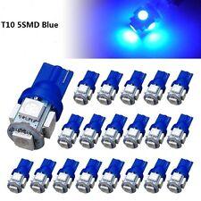 50Pcs Super Blue T10 Wedge 5-SMD 5050 LED Light bulbs W5W 2825 158 192 168 194