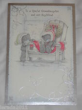 GRANDDAUGHTER AND BOYFRIEND CHRISTMAS  CARD ME TO YOU TATTY TEDDY BOTH OF YOU