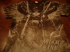 Miami Ink Skull Rider Motorcycle T Shirt. Sz. Medium Tattoo